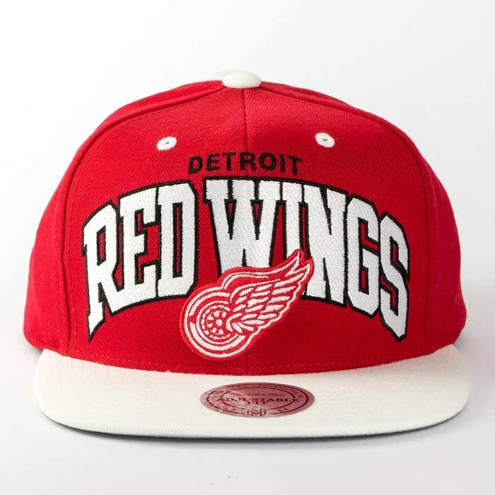 Czapka Mitchell and Ness snapback Team Arch Detroit Red Wings red / white