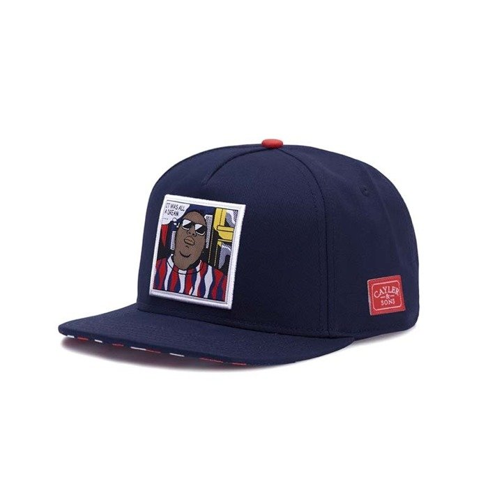 Czapka z daszkiem Cayler and Sons snapback WL Biggenstein navy / red