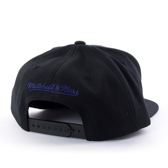 Czapka z daszkiem Mitchell and Ness snapback Easy Three Digital XL Charlotte Hornets black