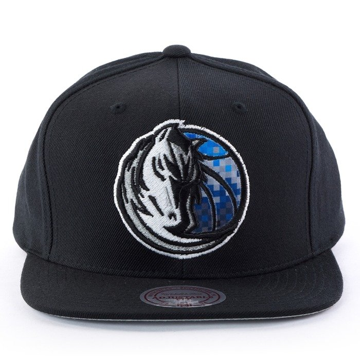 Czapka z daszkiem Mitchell and Ness snapback Easy Three Digital XL Dallas Mavericks black