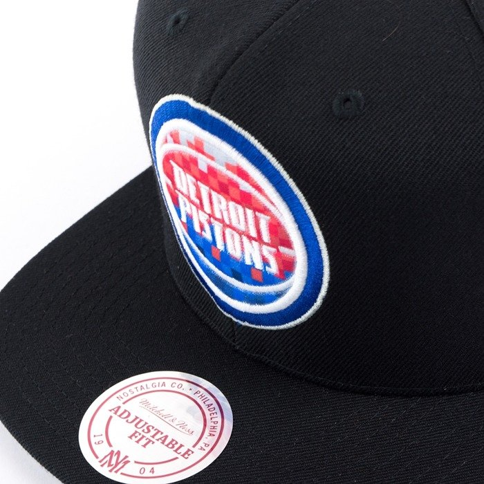 Czapka z daszkiem Mitchell and Ness snapback Easy Three Digital XL Detroit Pistons black