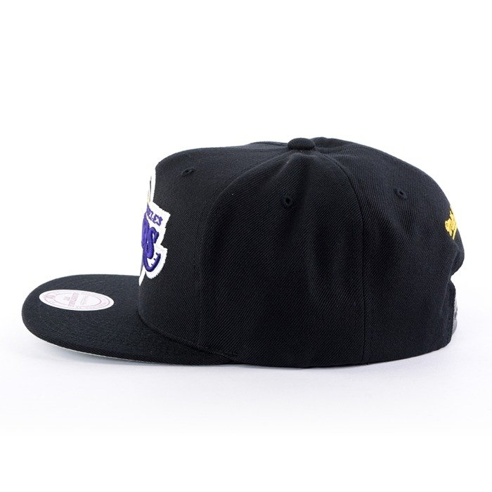 Czapka z daszkiem Mitchell and Ness snapback Easy Three Digital XL Los Angeles Lakers black