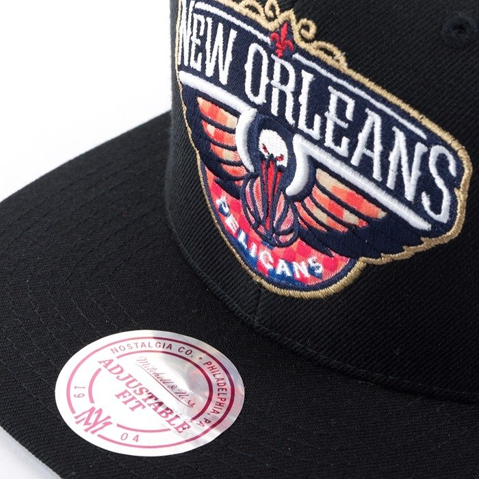 Czapka z daszkiem Mitchell and Ness snapback Easy Three Digital XL New Orleans Pelicans black