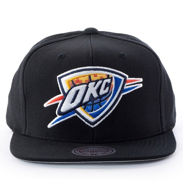 Czapka z daszkiem Mitchell and Ness snapback Easy Three Digital XL Oklahoma City Thunder black