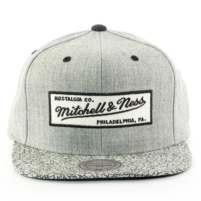 Czapka z daszkiem Mitchell and Ness snapback Elephant Crack Logo grey