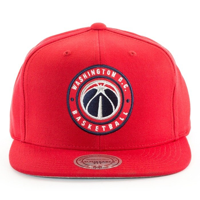 Czapka z daszkiem Mitchell and Ness snapback Twill Circle Patch Washington Wizards red