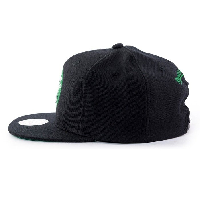 Czapka z daszkiem Mitchell and Ness snapback Wool Solid Boston Celtics black