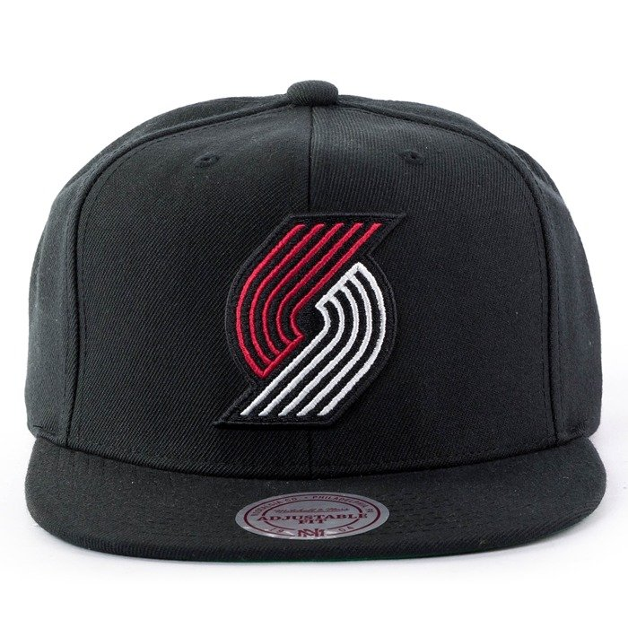 Czapka z daszkiem Mitchell and Ness snapback Wool Solid Portland Trail Blazers black