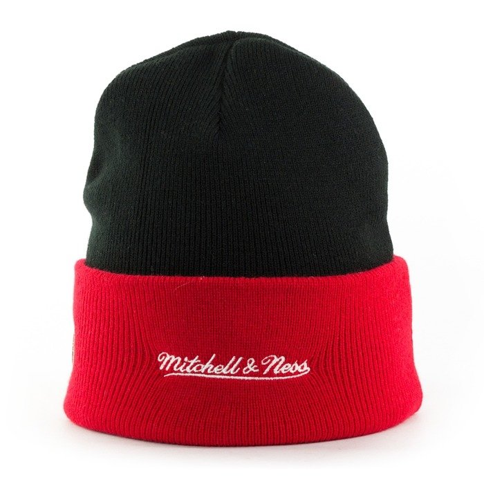 Czapka zimowa Mitchell and Ness HWC Team Arch Knit Chicago Bulls black / red