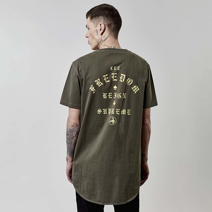 Koszulka Cayler and Sons BLACK LABEL t-shirt CSBL FRDM Scallop Back Tee olive
