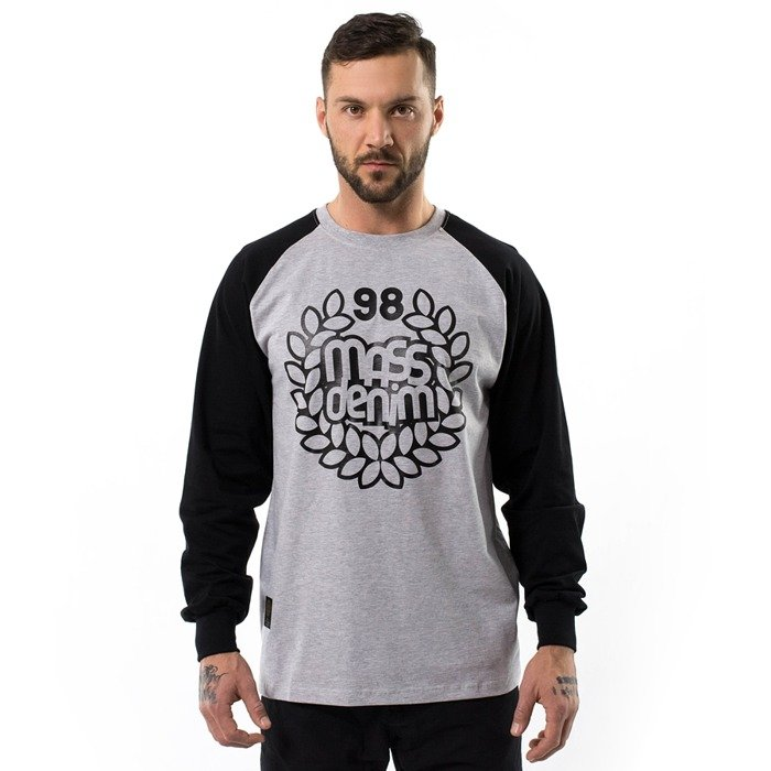 Koszulka męska Mass Denim longsleeve Base Reglan Anniversary light heather grey / black