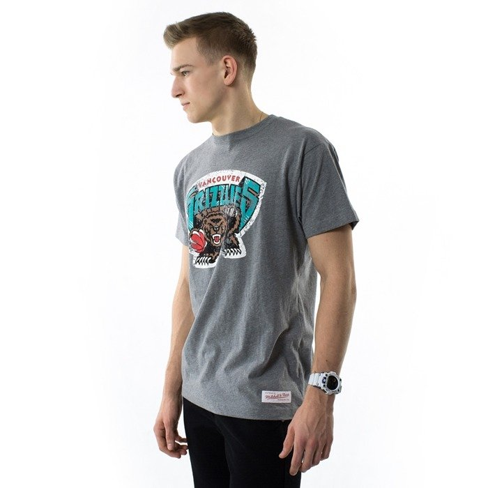 Koszulka męska Mitchell and Ness t-shirt Distressed Team Logo Traditional Tee Vancouver Grizzlies grey heather
