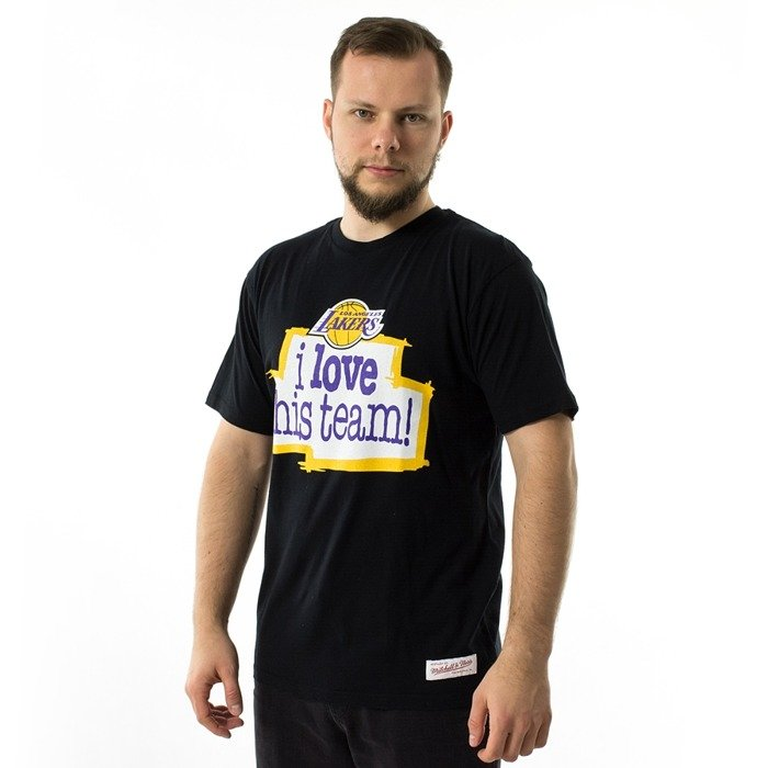 Koszulka męska Mitchell and Ness t-shirt I Love This Team Tailored Tee Los Angeles Lakers black