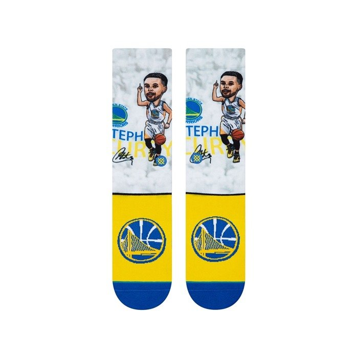 Skarpety Stance socks NBA Stephen Curry Big Head white