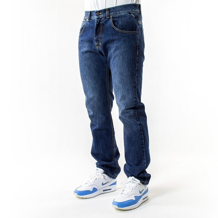 Spodnie męskie Mass Denim jeans Classics Straight Fit dark blue