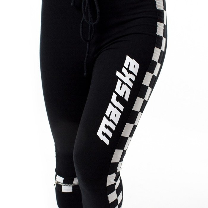 Spodnie dresowe Marska sweatpants Checkerboard black