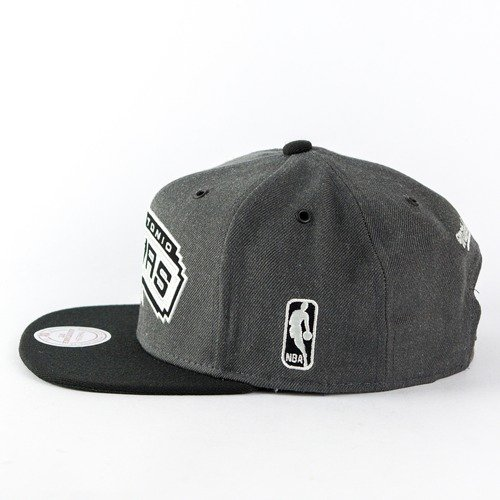 official photos 3fb9f f13a8 Czapka Mitchell and Ness snapback G3 Logo San Antonio Spurs charcoal ...
